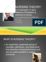 nursing theory watson without sound