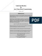Guide Specification for Laboratory Fume Hood Commissioning - ASHRAE 110