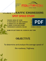 CC503 – TRAFFIC ENGINEERING SPOT SPEED STUDY