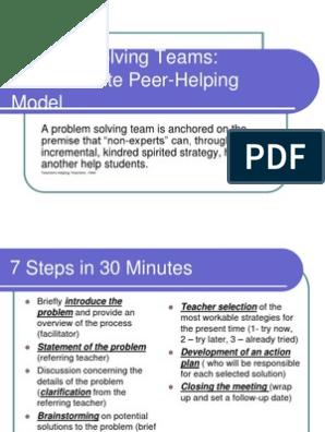 30 minute problem solving | Facilitator | Teachers