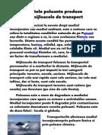 Efectele Poluante Produse de Mijloacele de Transport