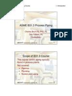B31.3 Process Piping Course - afsjkas dfkasjdf kasjfdkas01_Introduction