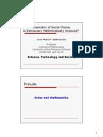 Mathematics of Social Choice is Democracy Mathematically Unsound by Jose Maria Balmaceda