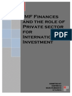 IMF Finances and the Role of Private Sector for International Investment by Karthik KJ