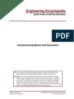 Commissioning Motors and Generators