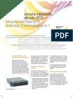 Nokia Siemens Networks Flexi Multiradio Base Station Data Sheet