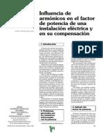 Influencia De Armónicos En El Factor De Potencia De Una Instalación Eléctrica Y En Su Compensació
