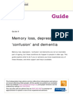 9 Memory Loss Depression Confusion and Dementia