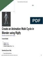 Animacion de Esqueleto Con Walk Cycle