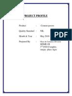 Project Report Cement Pavver