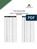 99557 Tsa Oxford Section 1 2009 Answer Key