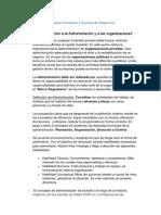 Resumen Certamen 1 Gestión de Empresas Temas 1 y 2