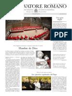 L´OSSERVATORE ROMANO - 14 Marzo 2014