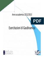 Esercitazioni Di Gasdinamica Shock Waves
