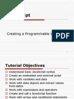 Programming in JavaScript