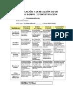 RUBRICA TRABAJO PSICOLOGÍA DE LA RISA