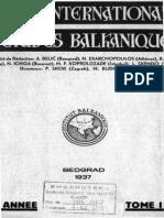 Balcanica I (1937)