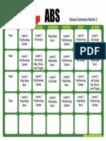 Hip Hop Abs Schedule 2