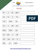 Conciencia Fonologica de Palabras Frutas 21 (3)