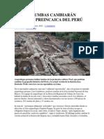 NUEVAS TUMBAS CAMBIARÁN HISTORIA PREINCAICA DEL