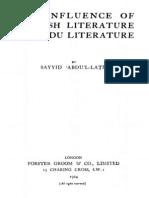 Influence of English Literature on Urdu Literature by Abul Latif