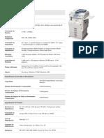 Especificação Ricoh Aficio MPC2051