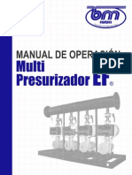 Manual Multi Presurizador EF