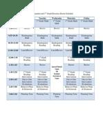 resource room schedule