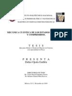 Mecánica cuántica de los estados coherentes y comprimidos, Didier Ojeda Guillén