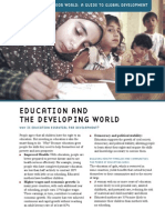 Education in the Development World