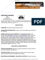 Podiform Chromite - Mineral Deposit Profiles, B.C. Geological Survey