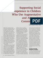 supporting social competence in children who use aac