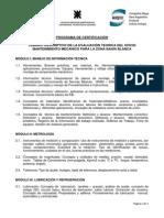Temario Descriptivo Evaluacion Mecanico Mantenimiento