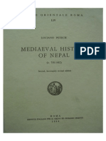 Mediaeval History of Nepal by Lucian Petech (1984)