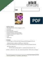 Chef Wan's Biodata • Born Redzuawan Bin Ismail, In Singapore