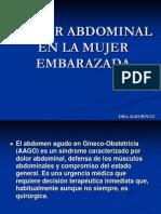 Dolor Abdominal en La Embarazada