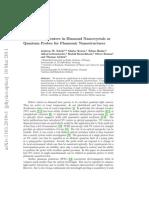 Single Defect Centers in Diamond Nanocrystals as Quantum Probes for Plasmonic Nanostructures