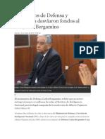 Ministerios de Defensa y Economía desviaron fondos al SIN
