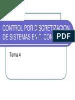 Control Por Discretizacion de Stc