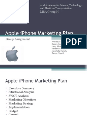Apple iPhone Marketing Plan | Apple Inc  | I Phone