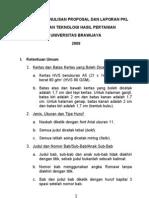 Panduan Penulisan Proposal Dan Laporan PKL A5