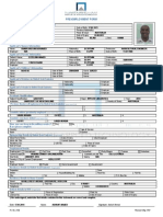 Pre-Employment Form (English)