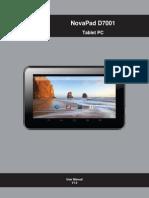 Crypto Novapad D7001 manual