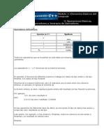M¢dulo 1.3 - Operaciones b†sicas, operadores y jerarqu°a de operaciones