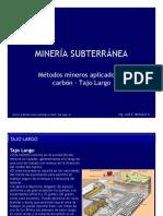 6 Metodos Mineros Aplicados Al Carbon- Tajo Largo-V6