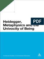 Philip Tonner Heidegger, Metaphysics and the Univocity of Being