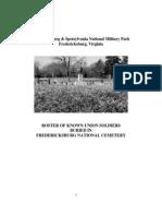Fredericksburg National Cemetery Roster-2