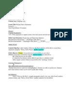 esol literacy lesson plan final draft