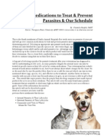 Medications to Treat & Prevent Parasites Our Schedule