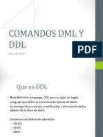 Comandos Dml y Ddl